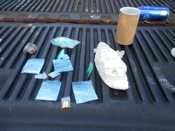 Precinct 4 Constables say Victor Garcia-Velazquez was in possession of the pictured Xanex and Cocaine. (Pct. 4 Constable's Office courtesy photo)