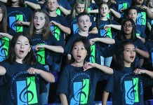Approximately 320 fifth-grade students representing 41 CFISD elementary schools came together for a combined performance at the 2019 Elementary Choral Festival, held April 25 at the Berry Center. (CFISD courtesy photo)