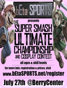 Cypress' first eSports competition is coming to the Berry Center July 27, 2019. Tickets sold out over a week before the Super Smash Bros. Ultimate tournament.