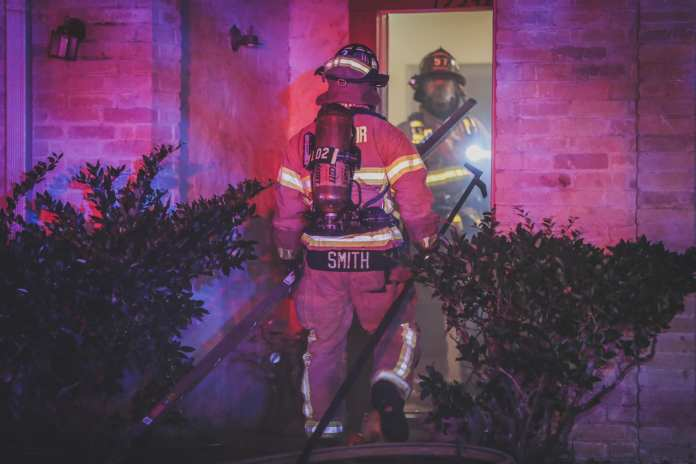 Cy-Fair Volunteer Fire Department crews respond to a structure fire in the 15300 block of W. Little York Road early Sunday Morning. (CFVFD PIO photo by Lt. Daniel Arizpe)