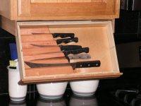 under cabinet knife storage drawer  Roselawnlutheran
