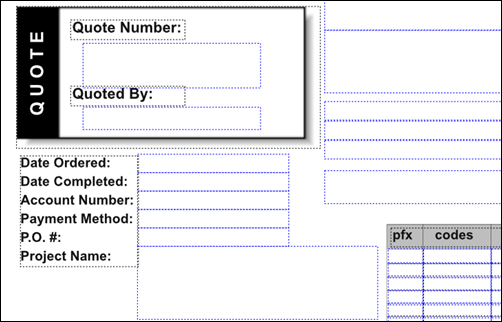 Example of fillable PDF form in Scribus.