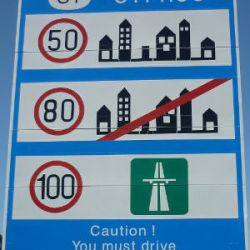 Cyprus speed limits