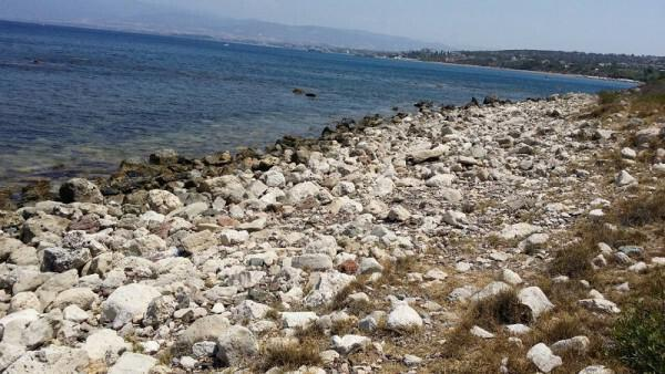 Table Positions Areas For Dog Beaches Paphos – Area Pitili east of the river mouth Platania