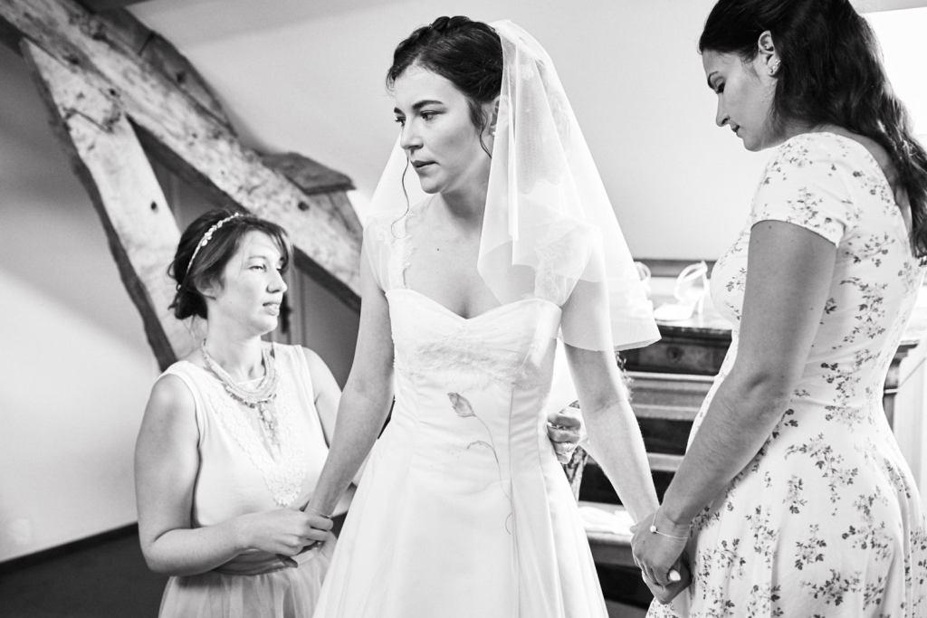 Moment de préparation pour un mariage au Domaine du Moulin des Planches