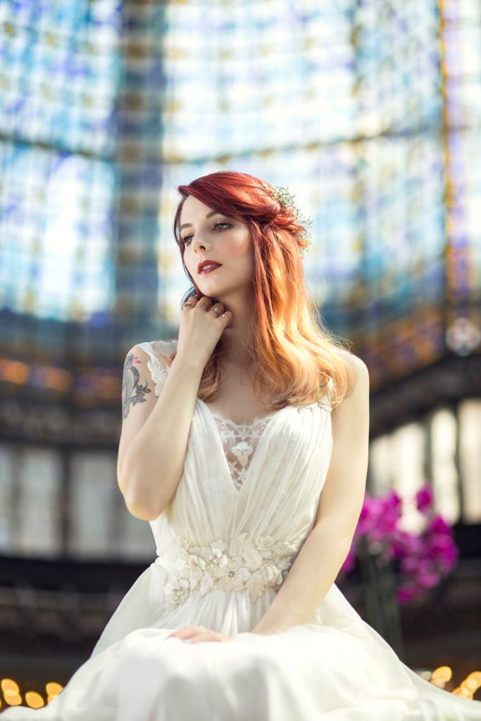 Robe de mariage Alberta Ferretti au Printemps Haussmann