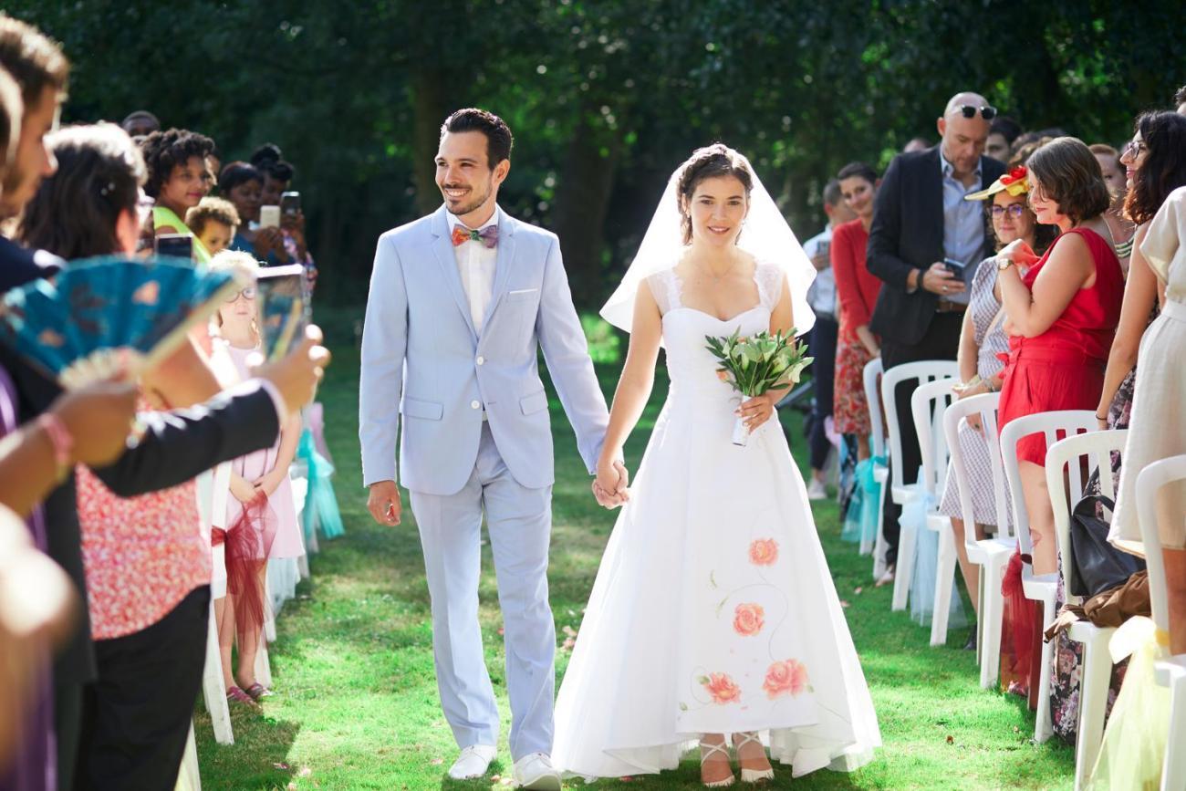 cérémonie céleste d'un mariage champêtre