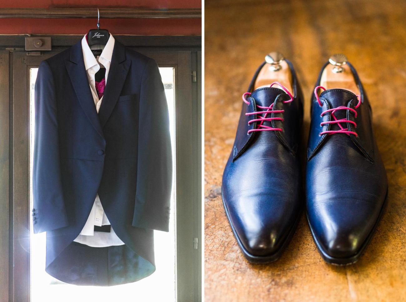 Costume et chaussures du marié