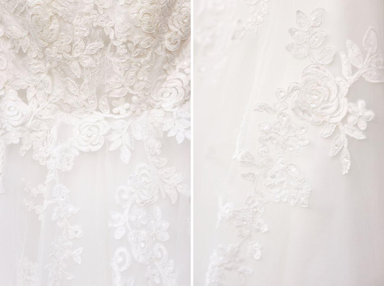 Détails robe de mariée