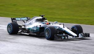 Mercedes W08 Hamilton skos prezentacja