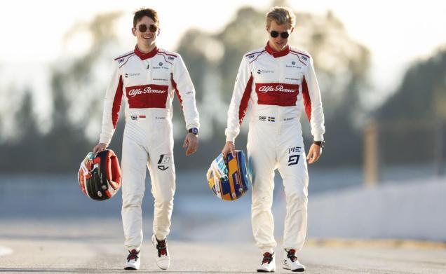 Alfa Romeo Sauber 2018 Ericsson Leclerc