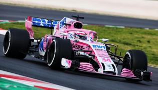 Force India VMJ11 testy Barcelona 2018 Mazepin