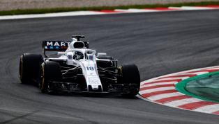 Williams FW41 Stroll Testy Barcelona