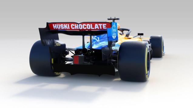 2019 McLaren MCL34 prezentacja grafika tył