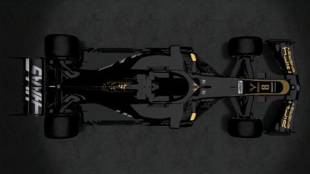 Prezentacja Haas F1 Team VF-19 góra
