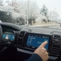 Citroen jízda v zimě energetická rezerva