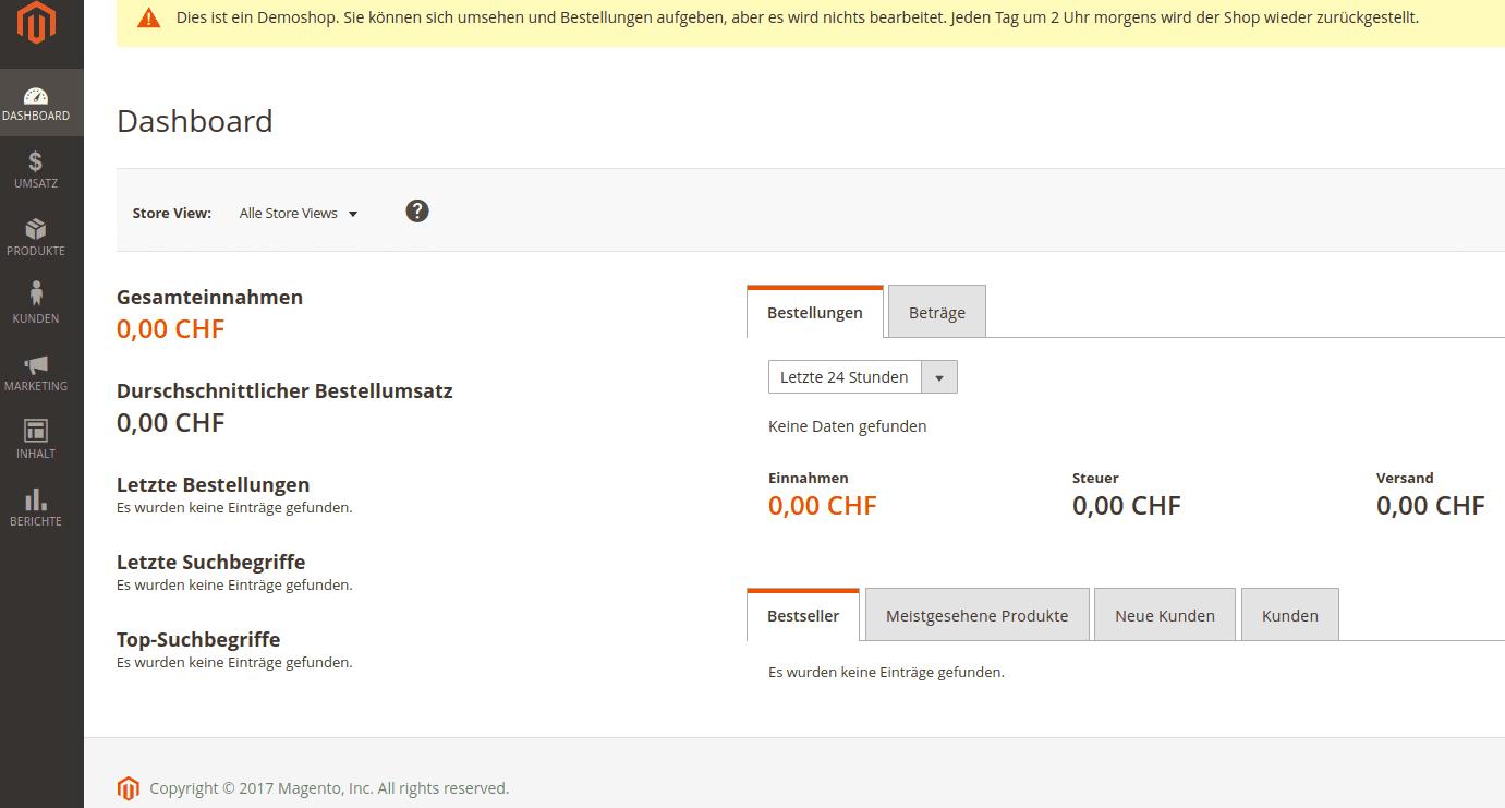 Magento 2.X zum Pauschalpreis von CHF 4'800.00