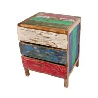 Teak Kommode recyceltes Holz aus alten Fischerbooten ...