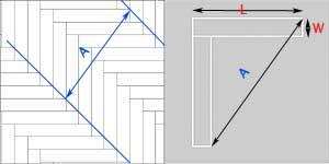 Calculate Herringbone Flooring Pattern