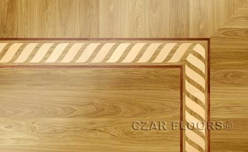 Wood Borders Model B3  Custom Wood Stone Flooring