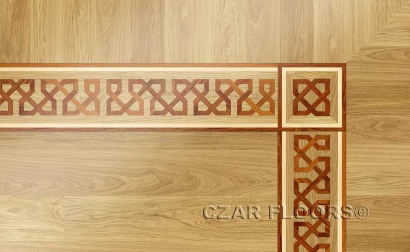Wood Borders Model B5  Custom Wood Stone Flooring