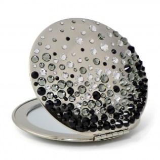 Compact mirror with Swarovski crystals