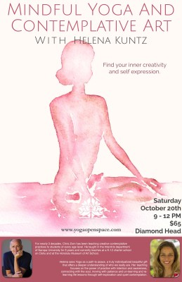 Mindful Yoga and Contemplative Art Flyer