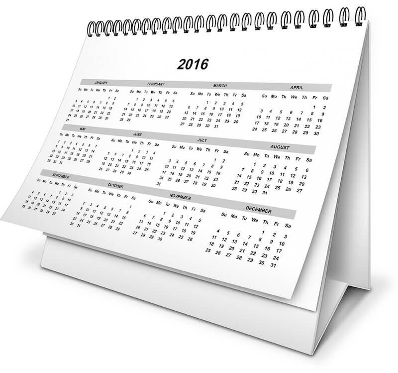 stolni kalendar za 2016. godinu
