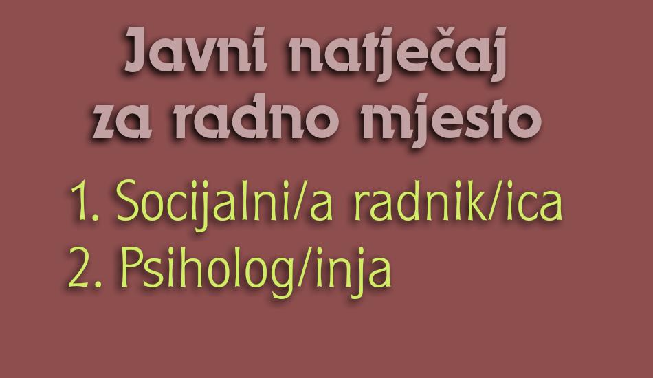 Javni natječaj socijalni radnik i psiholog - dekorativni tekst
