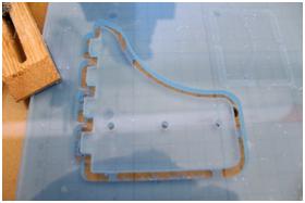 Lavorazione su plexiglass - plexiglass processing