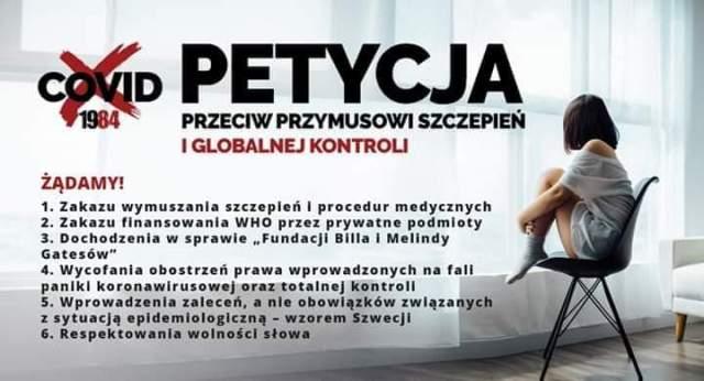 """W przedsionku przyjęto petycję przeciwko """"nowej normalności"""". Zobacz walczących o wolność!"""
