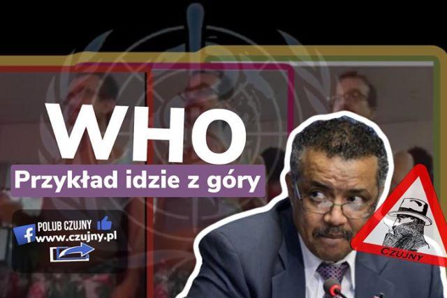 Czy to dyrektor WHO pląsa w rytm gejowskiego CzaCzaCza?