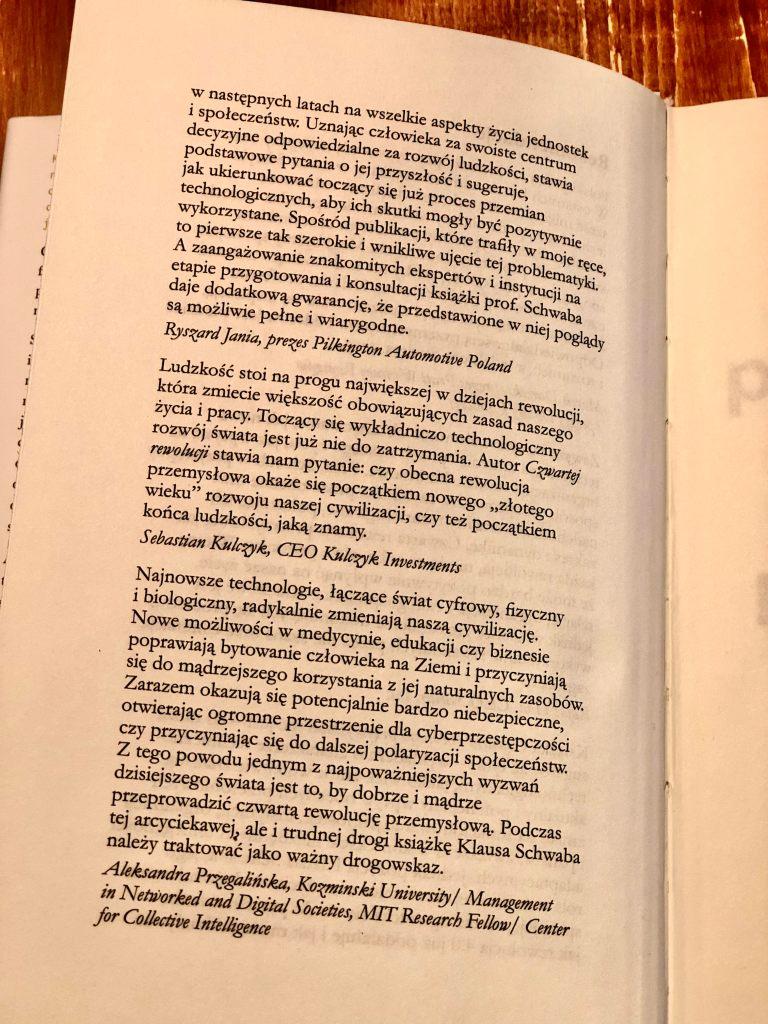 Rekomendacje ksiązki Klausa Schwaba