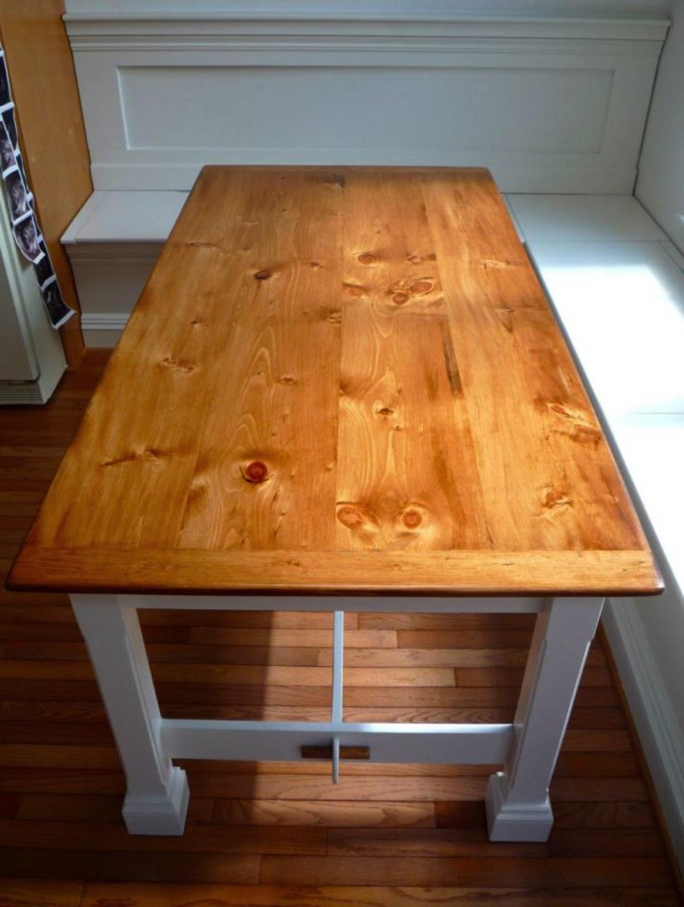 Knotty Pine Farmhouse Table CZ Woodworking