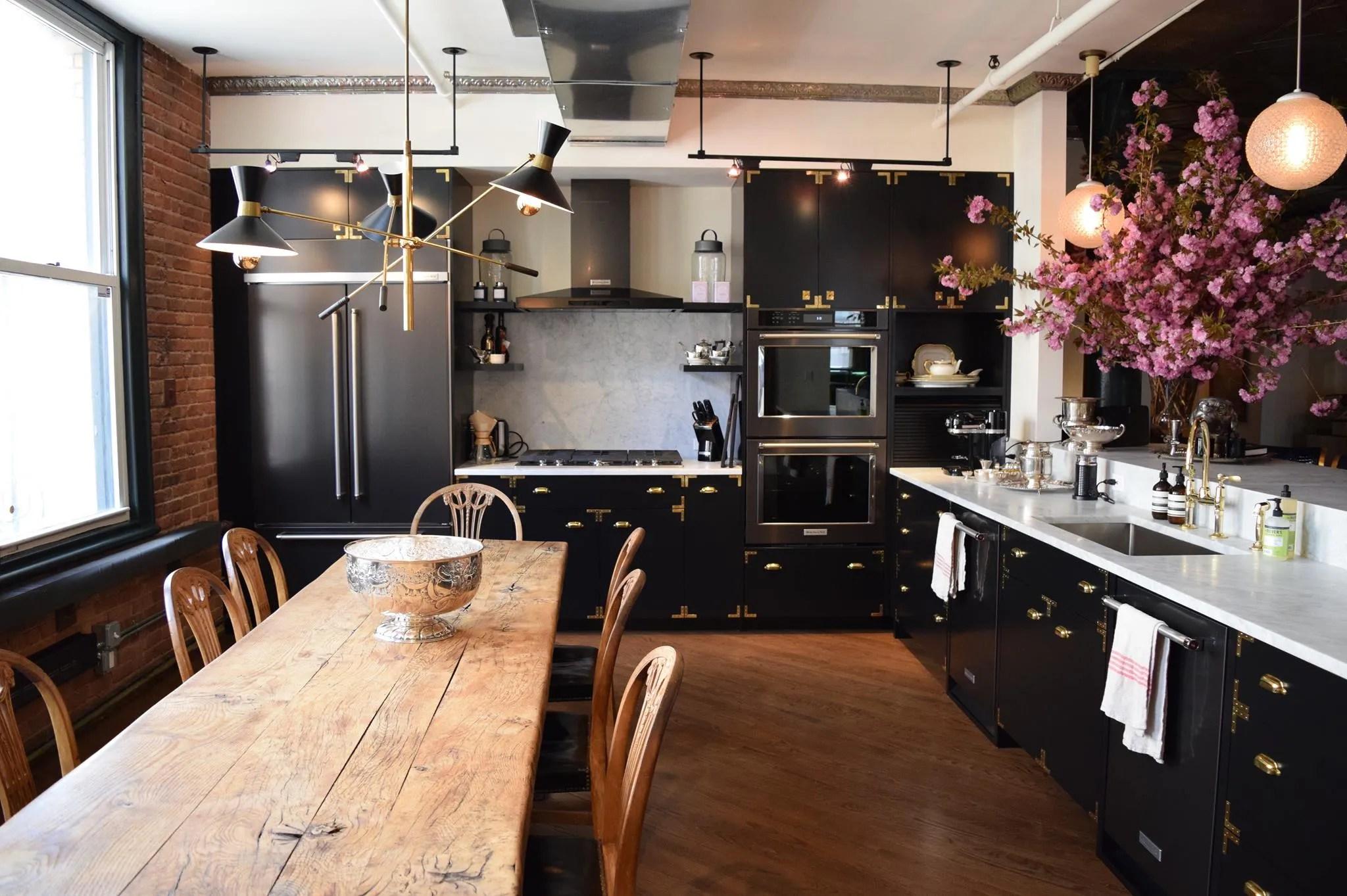 black kitchen appliances samsung reviews kitchenaid stainless steel cabinets