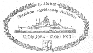 Zerstörer Schleswig-Holstein Homepage----Schiffsstempel