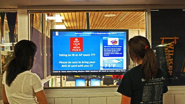 reminder digital signage