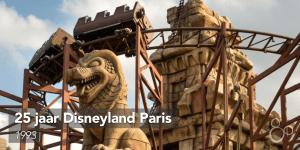Mijnkarretjes van de achtbaan Indiana Jones et le Temple du Peril maken hun rondje