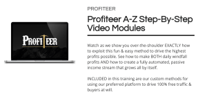 Profiteer is a Training and Software Which Teaches You How To Profit Using 1 Unique Method 4