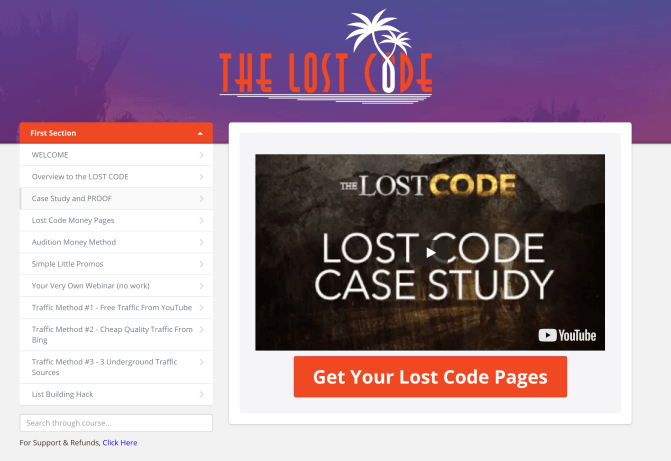 The Lost Code Review - The missing link to the make money online niche 1