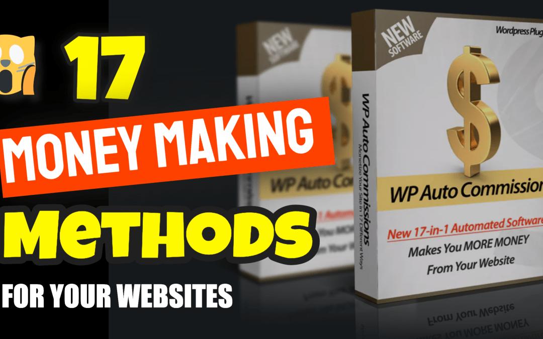 17 Money Making Methods for WordPress