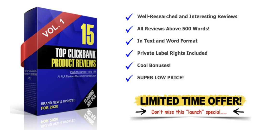 Done For You Top Clickbank Product Reviews PLR For Affiliates 9