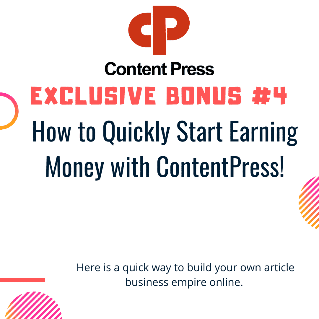 How To Generate and Distribute Quality Content In ANY niche in seconds using ContentPress 10