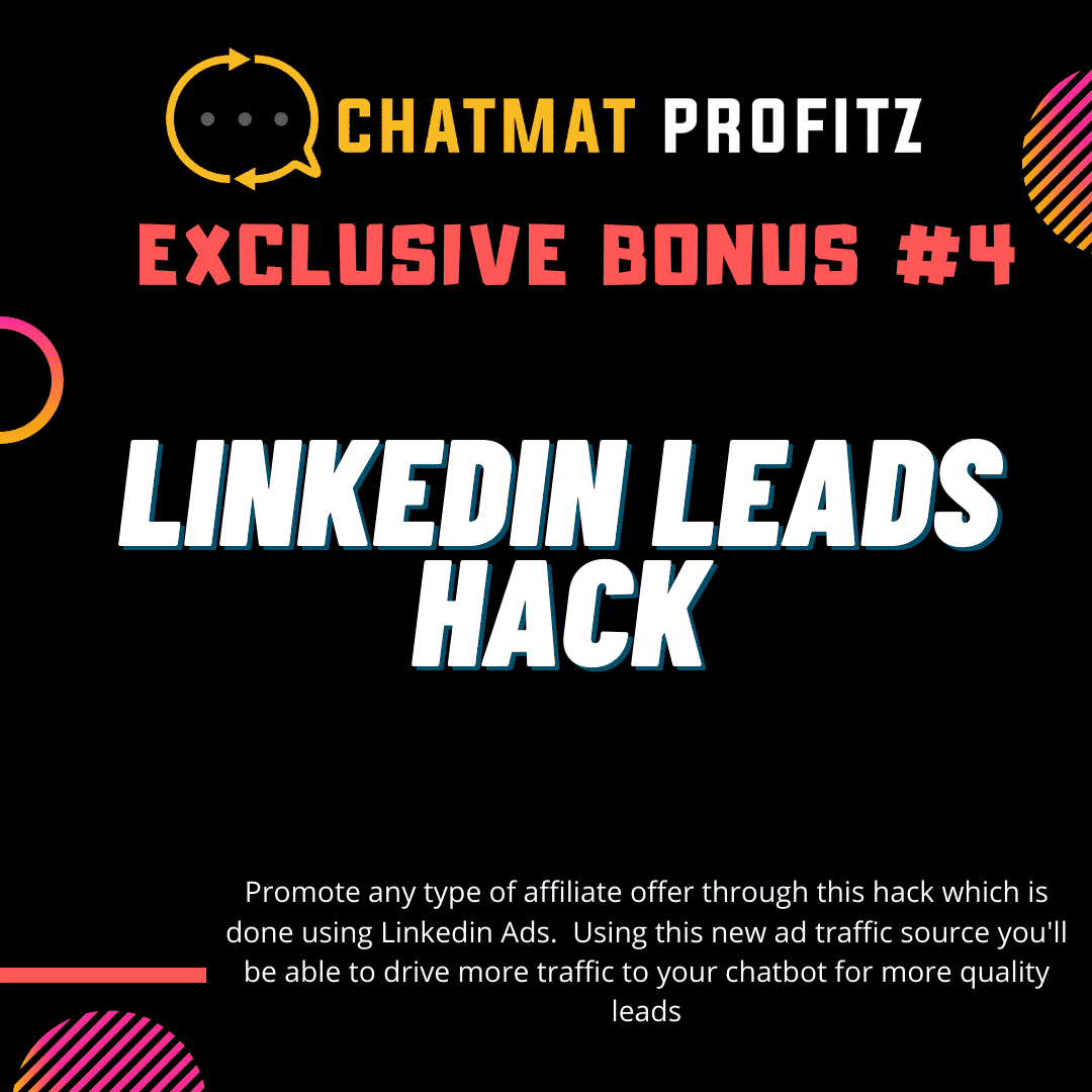 Chatmat Profitz | Easily drive traffic and grow a highly engaged and responsive messenger bot list for Free 12
