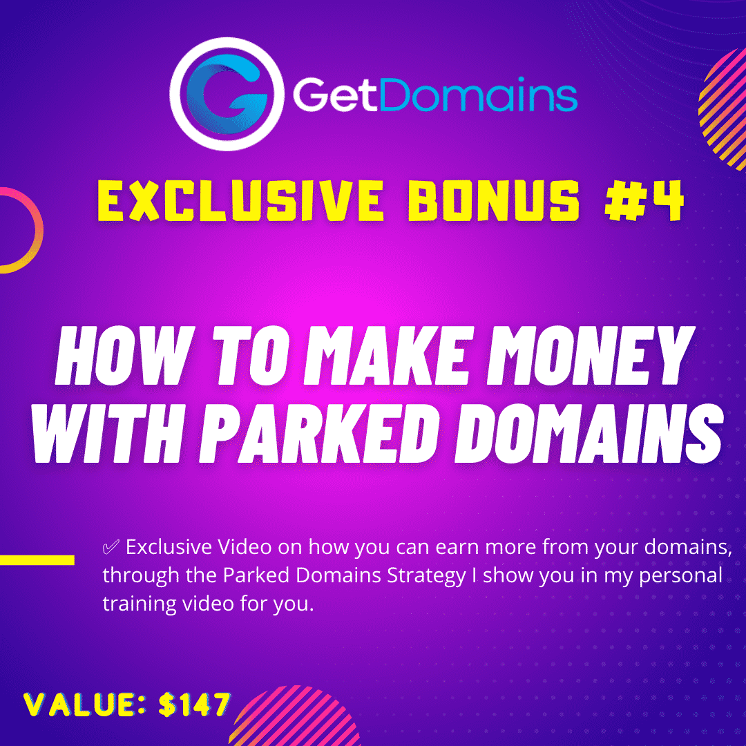 GetDomains - Shows Anyone How to Make a Profit Online Flipping Domain Names 9