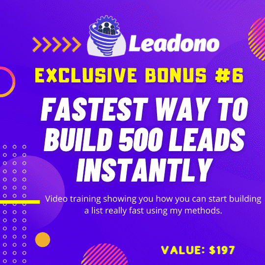 Leadono Autobuilds an Email List From Social Platforms with One Click! 11