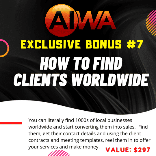 Create Websites using just a keyword using AIWA 10
