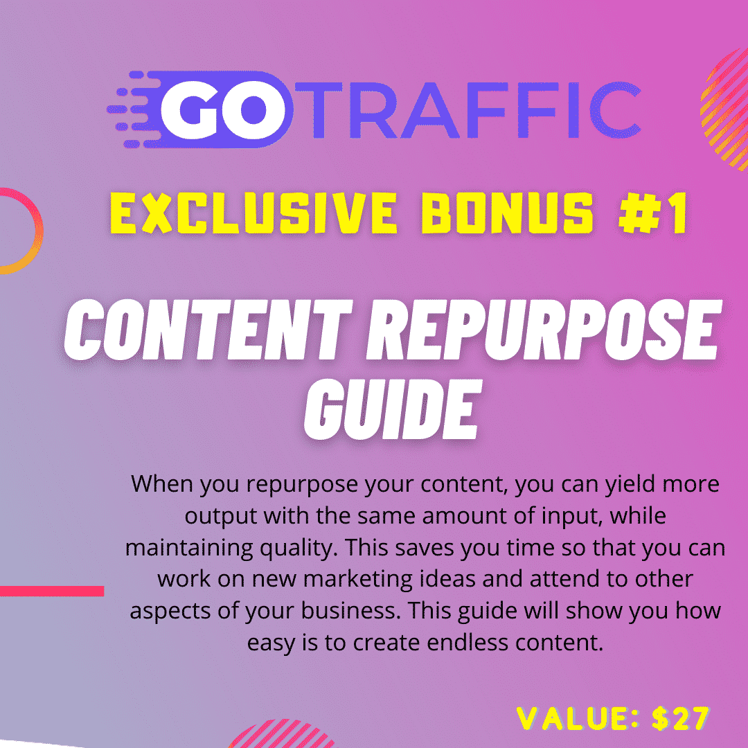 Get Free Traffic From Social Media with DFY Content using GoTraffic 5