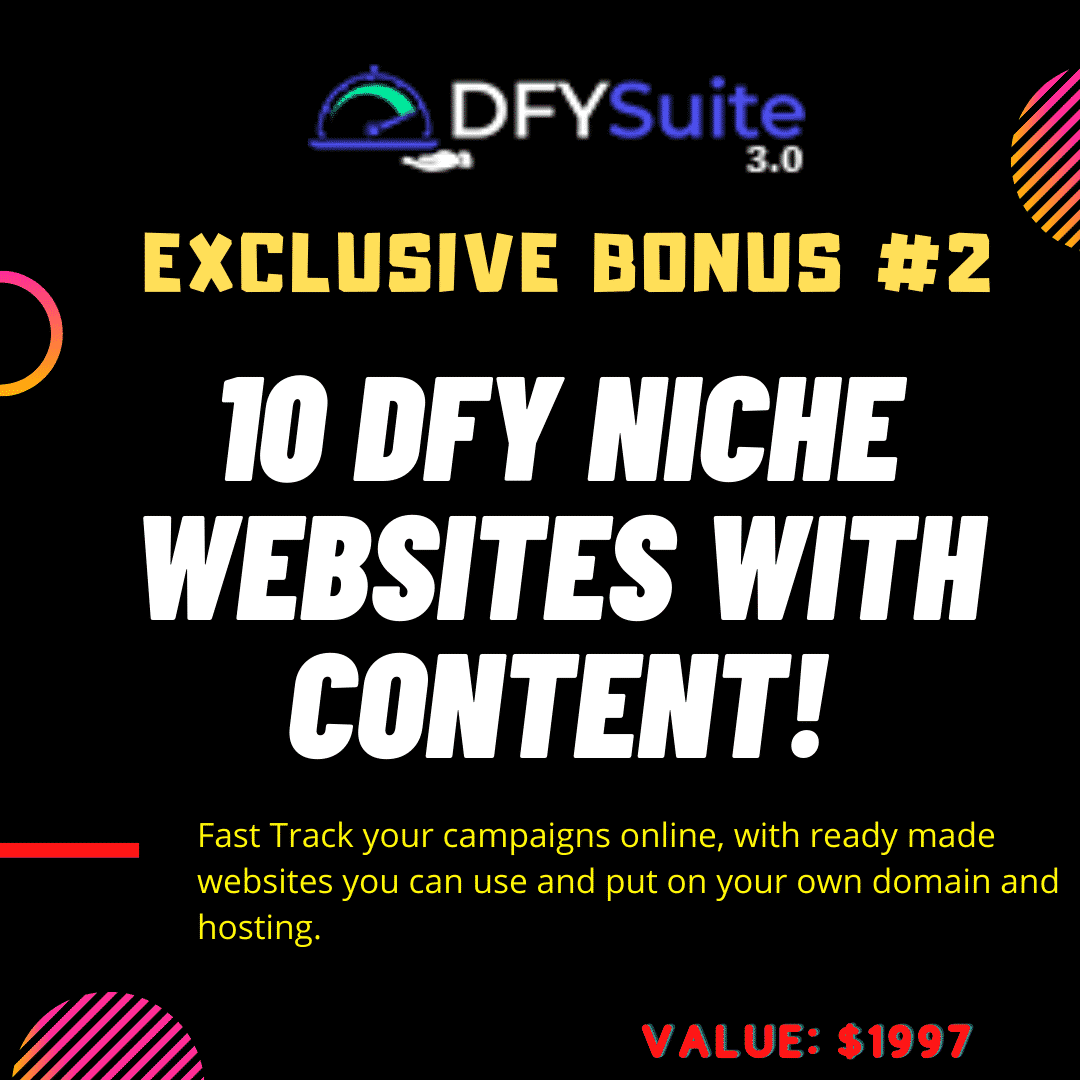 DONE-FOR-YOU Page 1 Rankings with DFY Suite 3.0 9