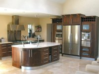 Modern Walnut Kitchen Cabinets - Image to u